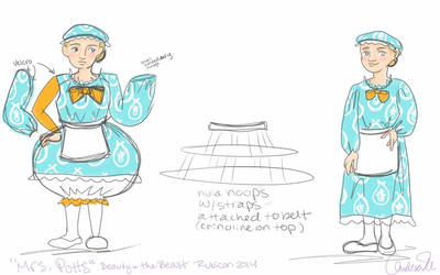 Mrs Potts Beauty and the Beast costume design by Andichan04
