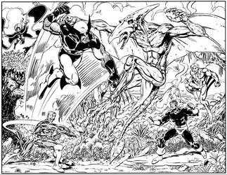 X-MEN VS SAURON by Chris-Malgrain