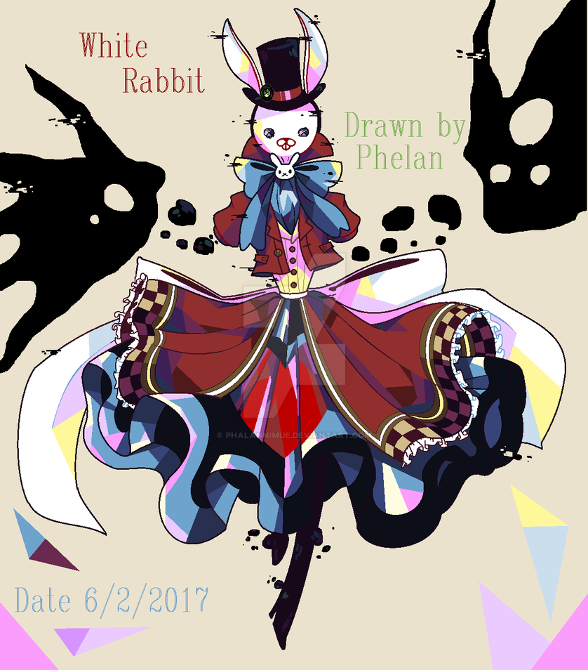 White bunny by PhalanNimue