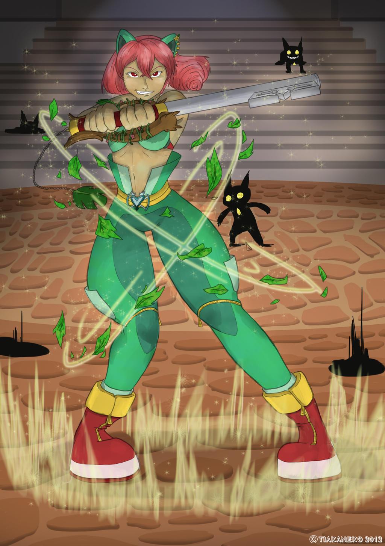 Pocket Hearts - Leaf's Own Defender by tiakaneko