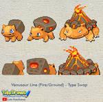 Fire Venusaur - Type Swap Sprite