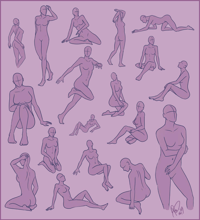 Poses - Female Sheet by Rosaka-Chan