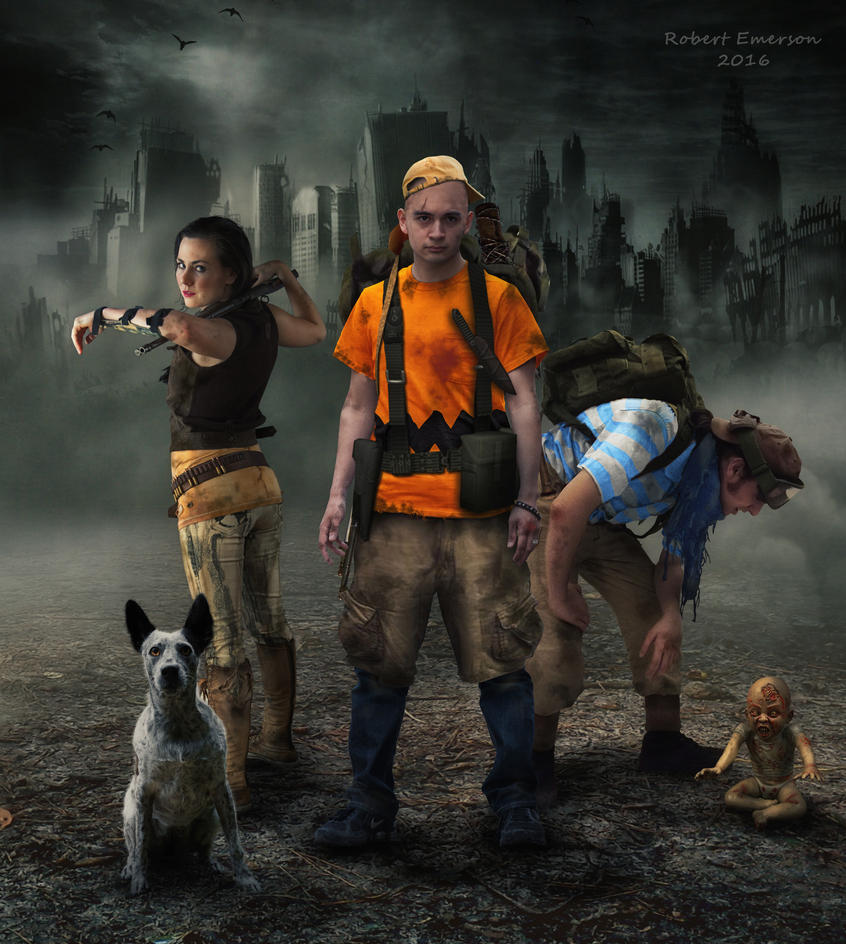 Lucy, Linus and Charles - Peanuts Apocalypse by robhas1left