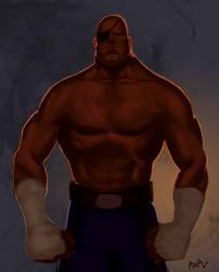 Sagat, King of Muay Thai by MisterStrum