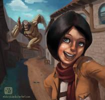 Mikasa Takes a Selfie!