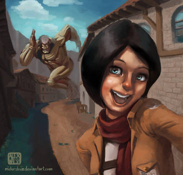 Mikasa Takes a Selfie! by MisterStrum