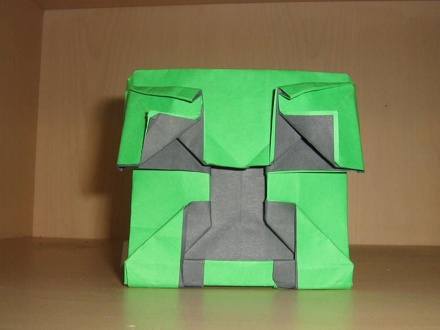 origami creeper face by jeremy shafer by aarrnnoo0123 on