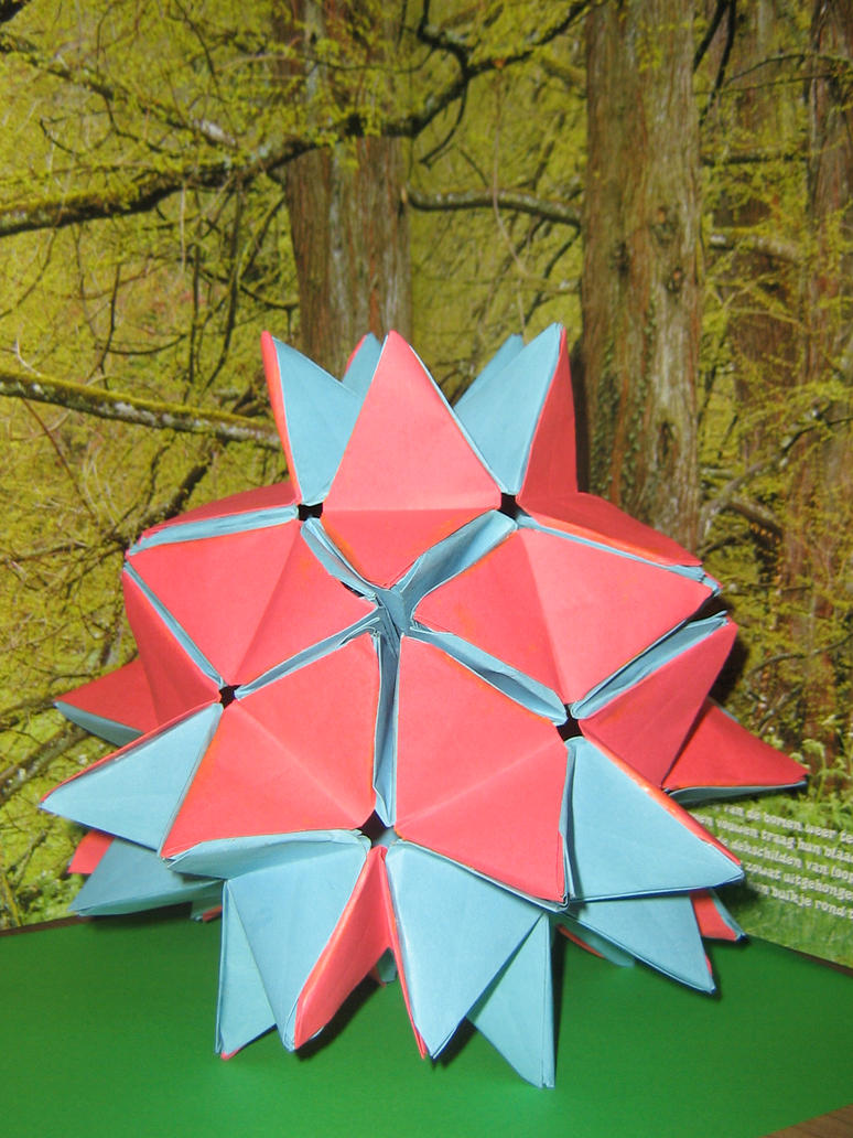 origami openable spike ball by aarrnnoo0123