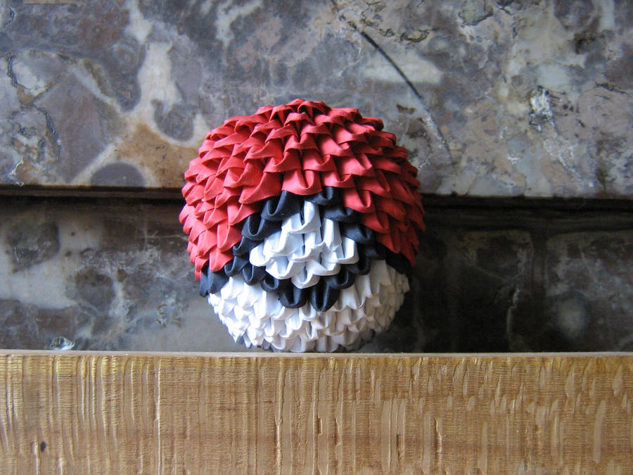 3d Origami Pokeball By Aarrnnoo0123 On Deviantart