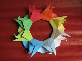 origami crane wreath by aarrnnoo0123
