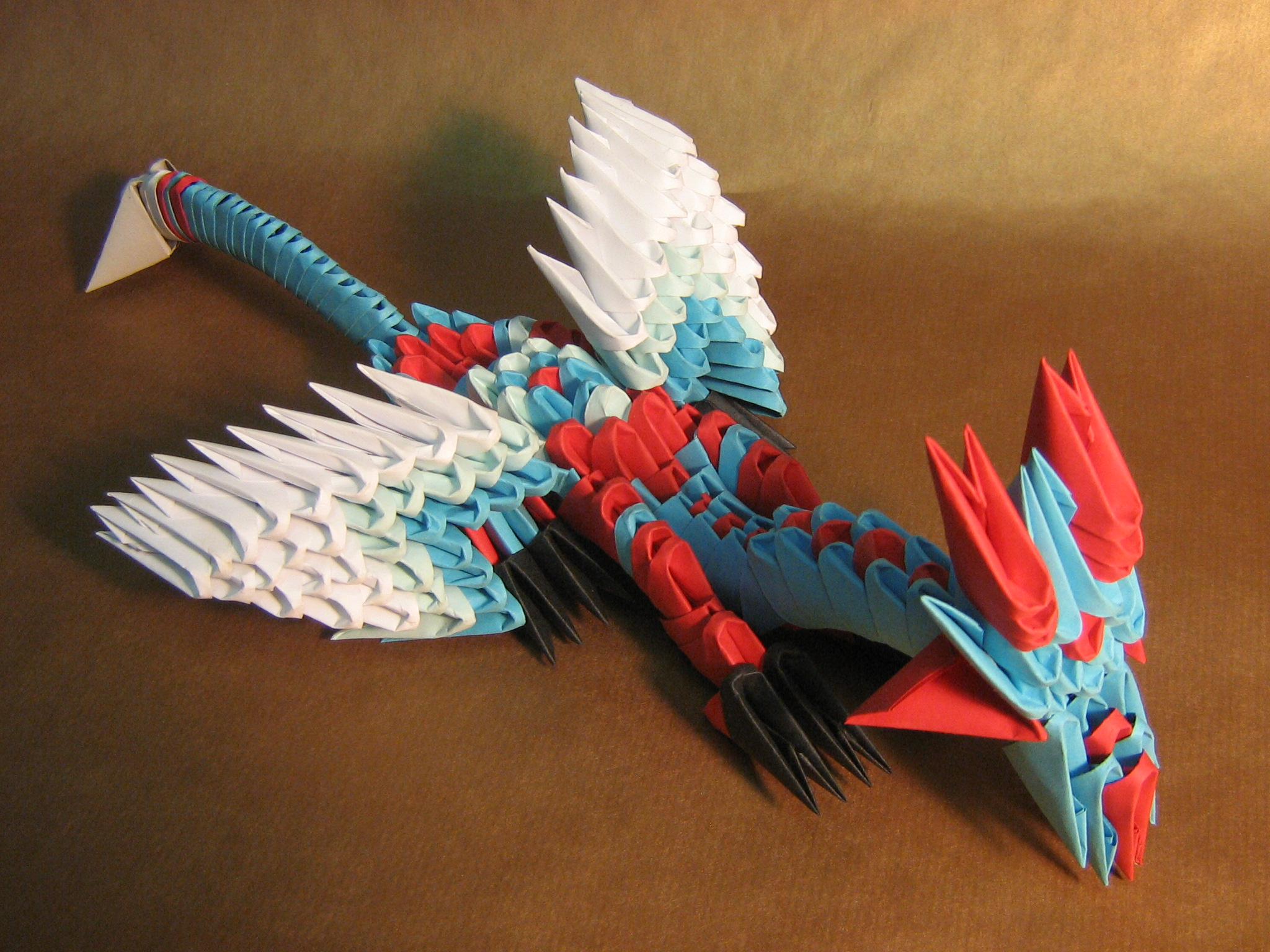 blue dragon 3D ORIGAMI by aarrnnoo0123 on DeviantArt - photo#18