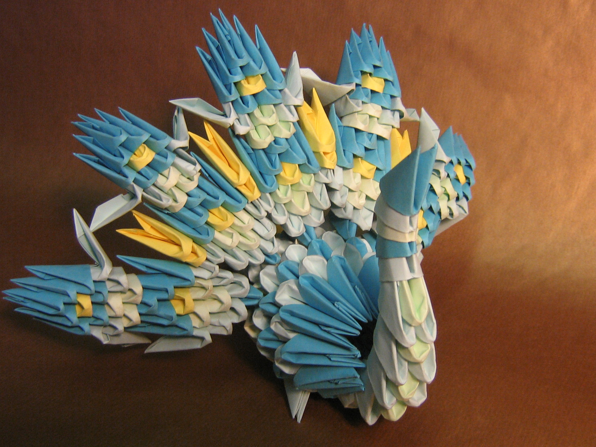 small peacock 3D ORIGAMI by aarrnnoo0123 on DeviantArt - photo#22