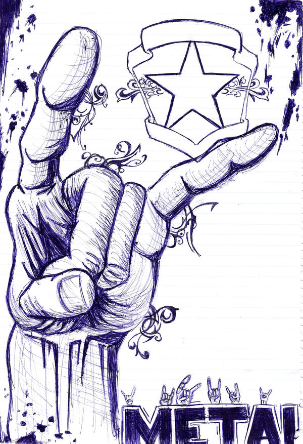 progress metal hand biro by addictive enemy on deviantart