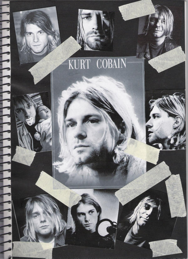 Kurt Cobain Collage By Addictive Enemy