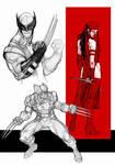 Wolvie-Elektra sketches