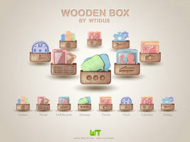 Wooden Box Icons by Wtidus