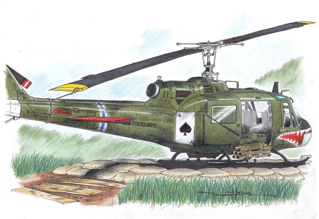 UH-1C Huey Gunship by Schwarze1 on DeviantArt