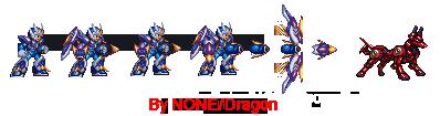 Mega Man X G.B.F. Armor + Rush Jagd by NONE-Dragon