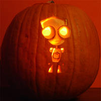 Gir Pumpkin - 2005 by CarverOfPumpkins