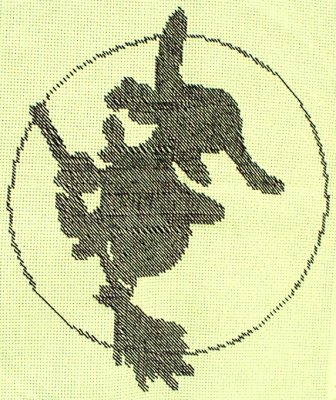 Witchy Moon Cross Stitch by RaNuit
