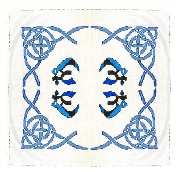 Celtic OM Tarot Cloth by RaNuit