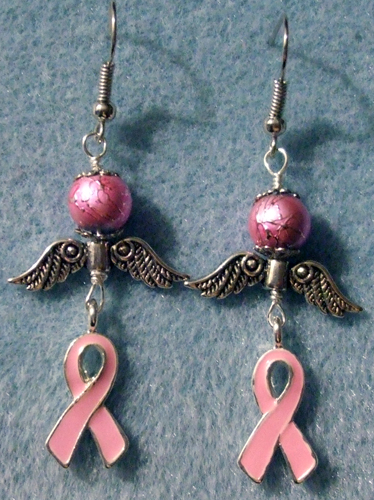 Breast Cancer Awareness Earrings by RaNuit