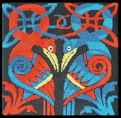 Celtic Knot Birds Cross Stitch by RaNuit
