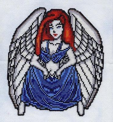 gothic angel cross stitch