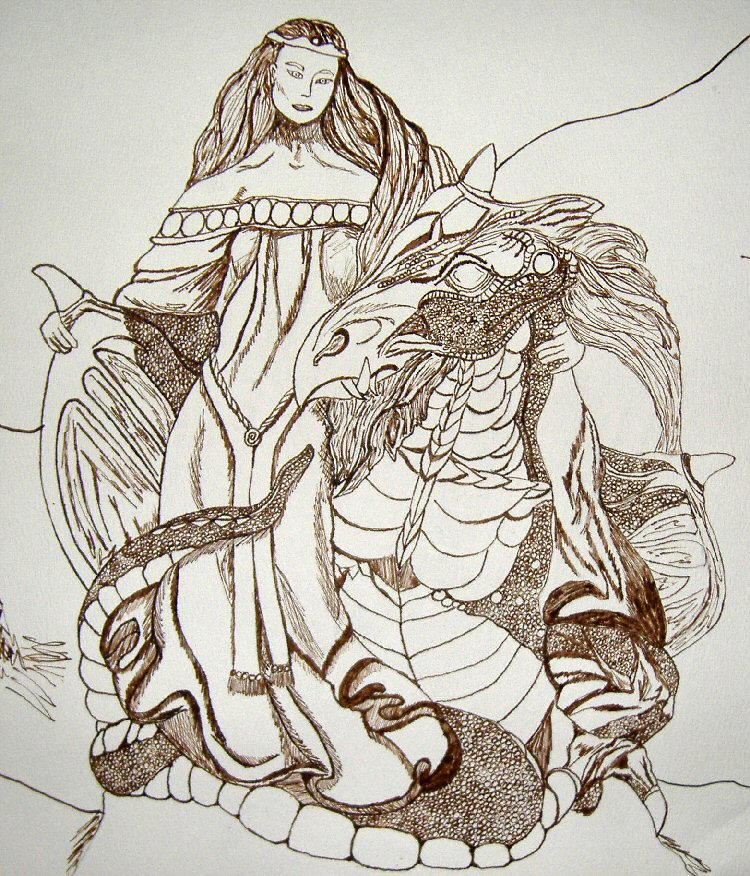 The Dragon and his Lady by RaNuit