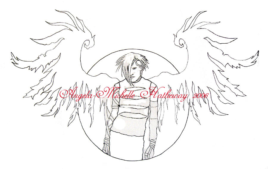 Tattered Wings Line Art by RaNuit