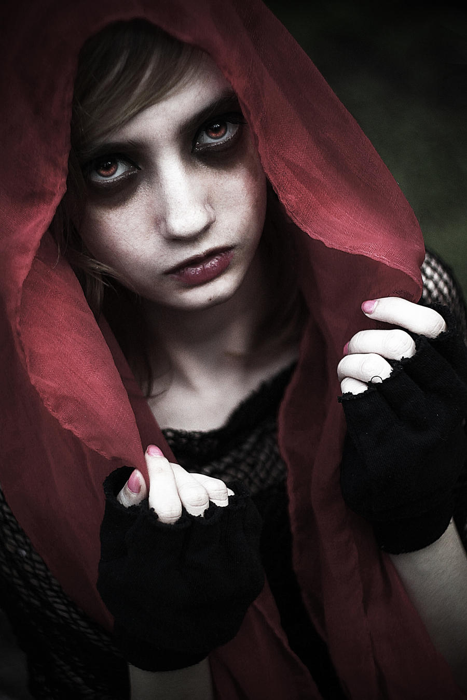 Dark Red Riding Hood by ValentinaLaia