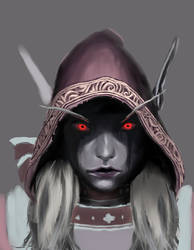 Sylvanas painting uncompleted