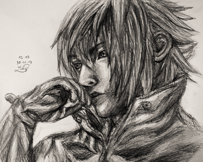 how to draw final fantasy style