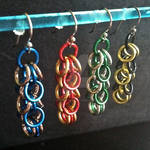 Hogwarts Shaggy Loops Chainmaille Earrings