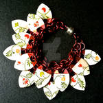 Dainty Floral Red Scalemaille Bracelet