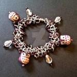 Purple Owl Chainmaille Bracelet