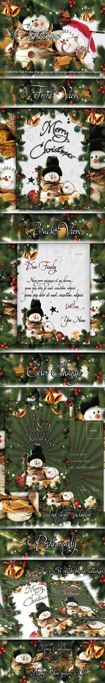 Christmas Card PSD by koko26