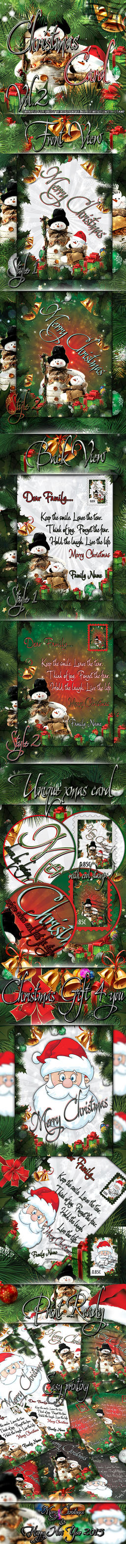 Christmas Card PSD Print Ready by koko26