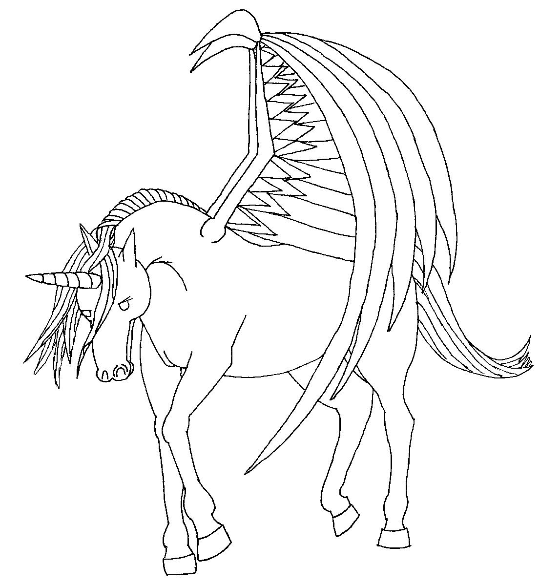 unicorn with wings lineartroyalphoenix on deviantart