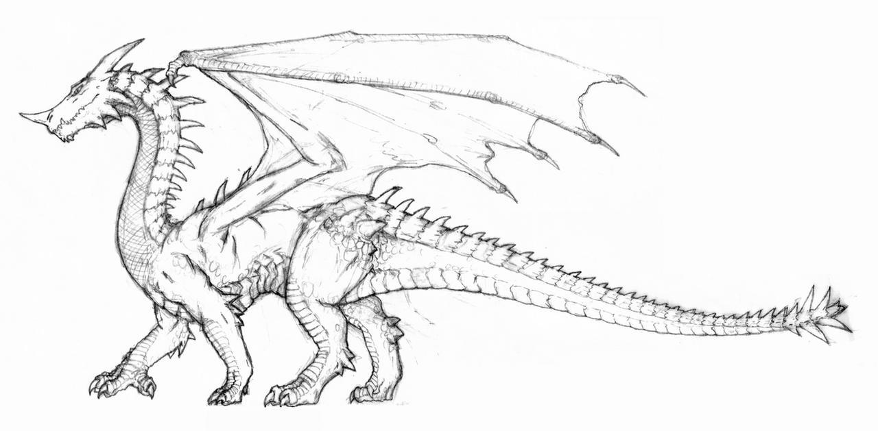 Green Dragon D4e By Hypergojira Fan Art Traditional Drawings Other
