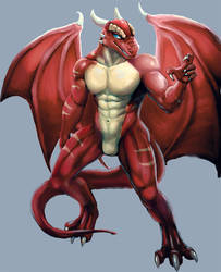 red dragon by Bleakcat