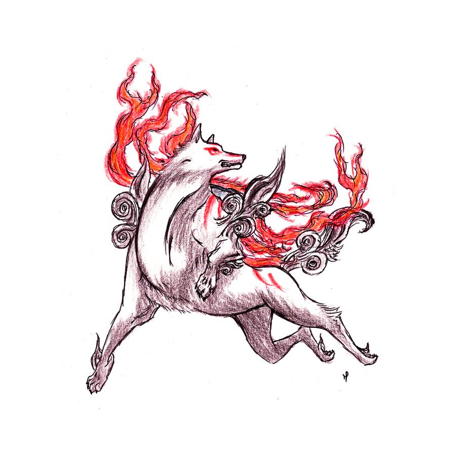 Okami Amaterasu by BluLizard