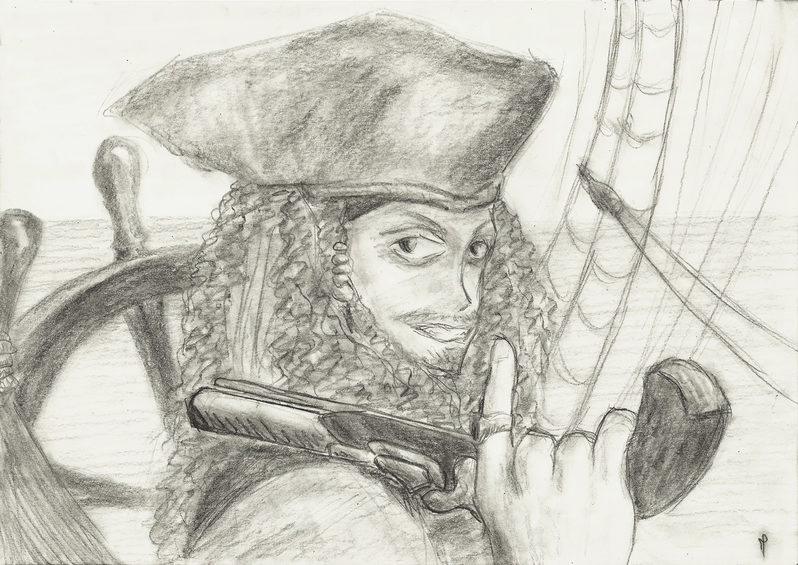 Captain Jack Sparrow by BluLizard