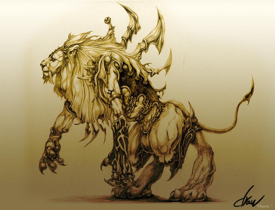 Lion Warrior Drawings Lion warrior beast warriorLion Warrior