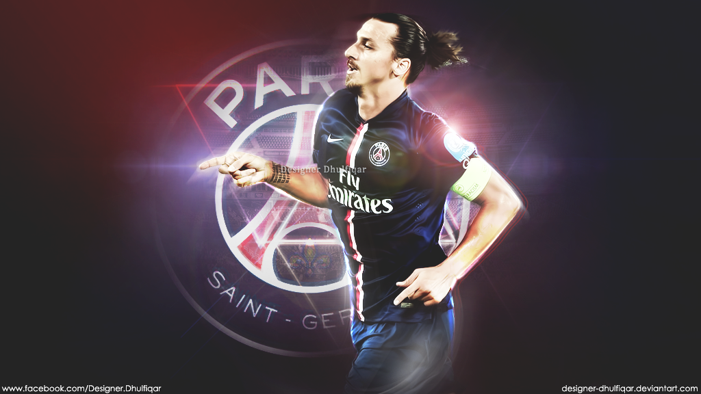 Zlatan Ibrahimovic Paris Saint Germain By Designer Damienmand