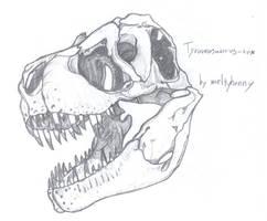 Tyrannosaurus by meltyhonny