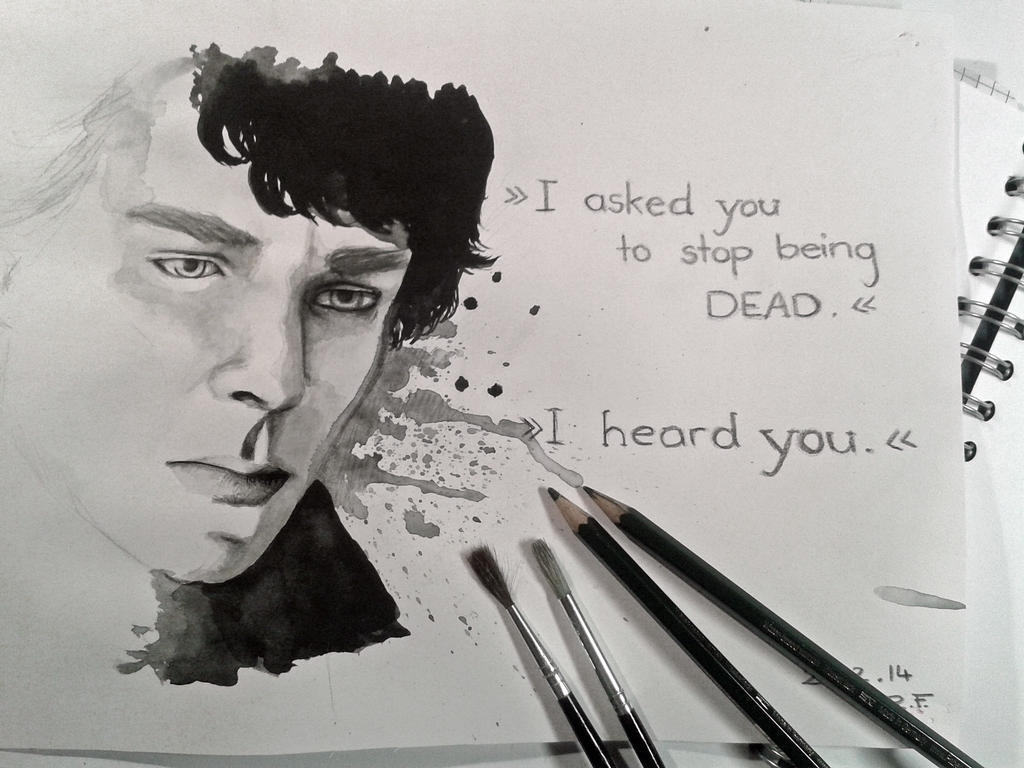Sherlock - Watercolour by BellaLubaja