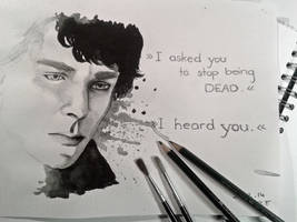 Sherlock - Watercolour by BellaLubaja