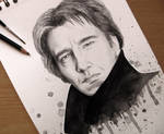 Alan Rickman - Watercolour