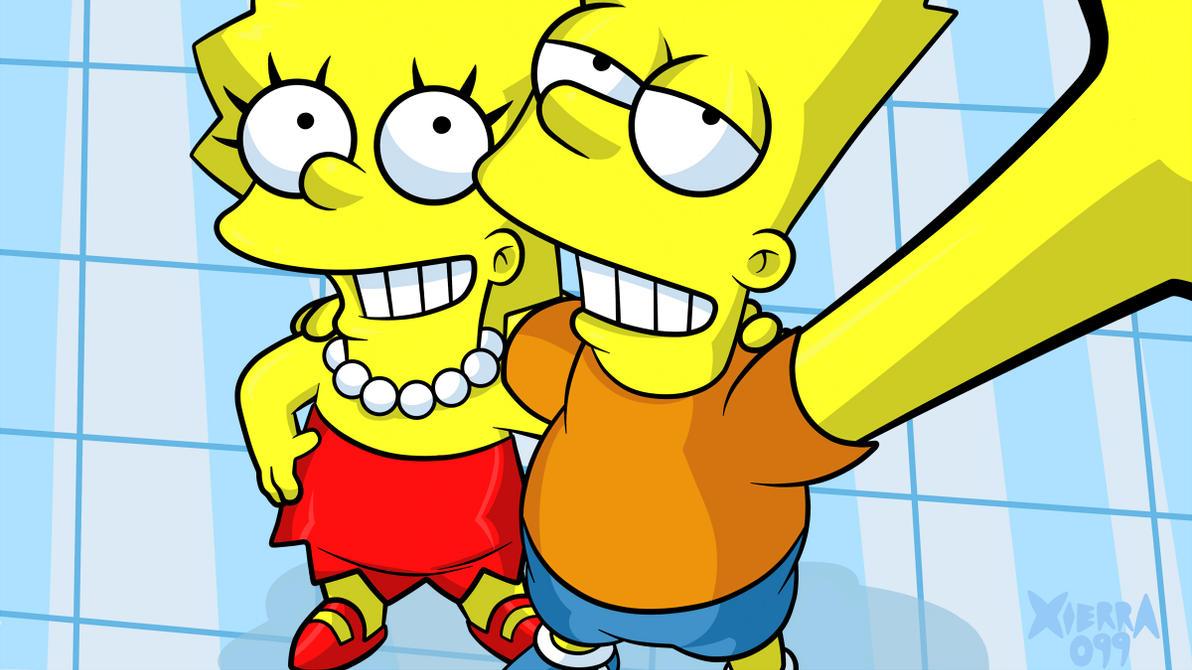 Simpson Selfie by Xierra099
